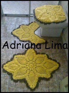 Adriana Lima: Jogo de banheiro Mostarda e Marrom