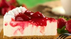 Try these super convenient no-bake Cheesecake Recipe. Watch how to make a quick-and-easy cheesecake that needs no baking! Cheesecake is one of our most popul. Homemade Cheesecake, Keto Cheesecake, Strawberry Cheesecake, Strawberry Syrup, Peppermint Cheesecake, Strawberry Topping, Skinny Cheesecake, Cheesecake Recipes, Desert Recipes