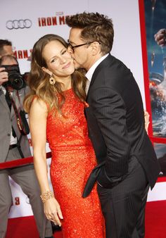 Robert and Susan Downey, Iron Man 3 premiere, Hollywood, 2013.