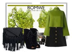 """Black Corduroy A Line Skirt by Romwe contest"" by namaste203 ❤ liked on Polyvore featuring Burberry, Bally, Essie, JustFab and Topshop"