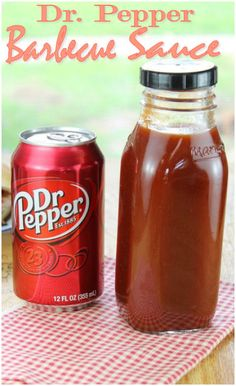 Dr. Pepper Homemade Barbecue Sauce. OMG! As a barbecue sauce addict, this is where life begins for me