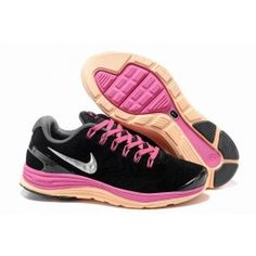 lowest price 3f828 3c20e Nike LunarGlide+ 4 Shield Læder Damesko Sort Pink Gul