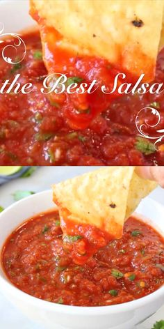 Easy and healthy, the best salsa recipe ever made with fire roasted tomatoes and. - Easy and healthy, the best salsa recipe ever made with fire roasted tomatoes and an authentic touch - Mexican Food Recipes, Vegetarian Recipes, Cooking Recipes, Best Mexican Food, Beef Recipes, Chicken Recipes, Cooking Videos, Easy Cooking, Vegetable Recipes