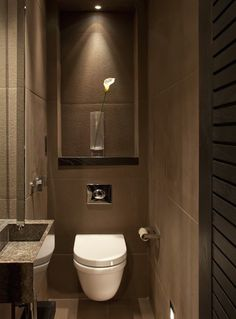 cloakroom lighting, luxury cloakroom interiors