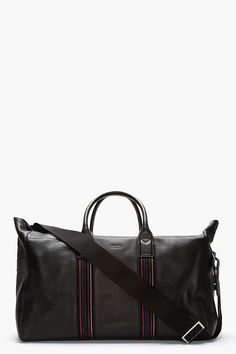 PAUL SMITH  Pebbled leather duffle bag