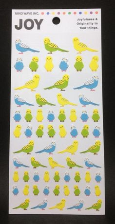 Budgie / Budgerigar / Parakeet / Stickers
