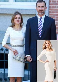 LETIZIA ORTIZ  La princesa de Asturias volvió a elegir un elegante vestido de su diseñador de cabecera, Felipe Varela. Copia su estilo sobri...