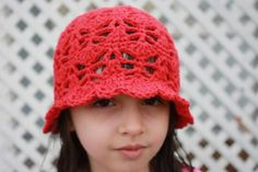 20 Inspiring Crochet Patterns to Practice Butterfly Stitch: Butterfly Kisses Cloche Hat Pattern