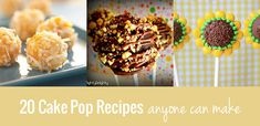 Here are 20 cake pop recipes that anyone can make, no matter what their skill level. From brownie cake pops and carrot cake pops, to everything in between.