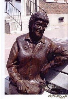 bronze sculpture public commission bridget moran prince george bc 2004 nathan scott statue