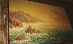 Hey, I found this really awesome Etsy listing at https://www.etsy.com/listing/210898679/50s-vintage-oil-painting-ocean-crashing