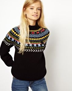 Image 1 ofFred Perry British Knitting Fairislejumper