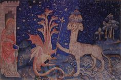 The Dragon of the Apocalypse Medieval Tapestry - Fine Art Print
