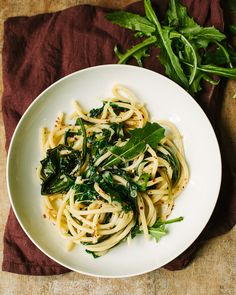 Pici Pasta with Ramps & Dandelion Greens | FamilyStyle Food