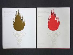 Nagano Winter Olympic Openning and Closing Ceremony Pamphlet, Designed by Kenya Hara, 1998