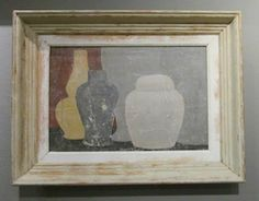 Contemporary English painting in vintage frame by artist Peter Woodward. www.balsamoantiques.com