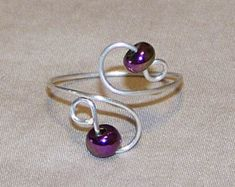 Adjustable Silver Toe Rings Beaded or non-Beaded Rose Gold Jewelry, Wire Jewelry, Jewelry Gifts, Wire Earrings, Silver Earrings, Handmade Beaded Jewelry, Handmade Rings, Silver Toe Rings, White Gold Rings
