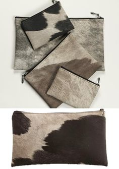 I have to have one of these new #Chilewich #cowhide #zips