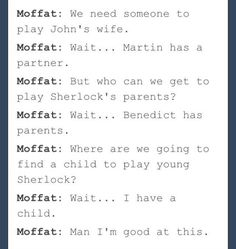 Making life easy for Moffat.