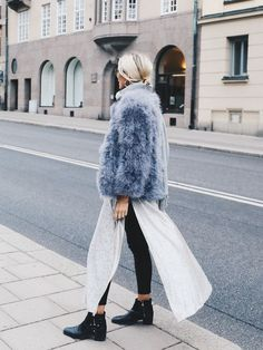Honestly WTF | cool layering with a chubby fur jacket | womens fashion and trends | Polychrome