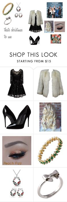 """""""That's Christmas to Me by Pentatonix"""" by themortalinstrumentslover ❤ liked on Polyvore featuring Chi Chi, Dolce&Gabbana, Bling Jewelry, Joy Everley, women's clothing, women, female, woman, misses and juniors"""