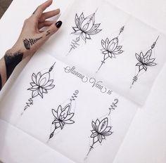 Great tattoo, i would love to have the same dessins de tatouage 2019 - Tattoo designs - Dessins de tatouage Mini Tattoos, New Tattoos, Body Art Tattoos, Small Tattoos, Tattoo Ink, Lottus Tattoo, Instagram Tattoo, Tattoo Muster, Initial Tattoo