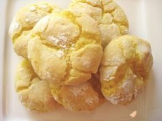 Lemon Cookies.....made with boxed Lemon Cake Mix