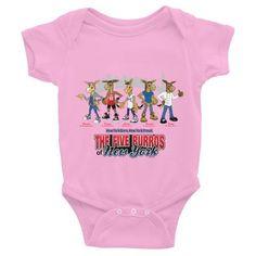 The Five Burros Of New York©-New York Born-Street Logo-Infant Bodysuit
