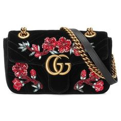 Women's Gucci Mini Gg Marmont Matelasse Velvet Shoulder Bag ($2,590) ❤ liked on Polyvore featuring bags, handbags, shoulder bags, purses, quilted hand bags, over the shoulder bags, man shoulder bag, shopping bag and hand bags