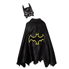 [Batman Birthday Party] Kids Black & Yellow Bat Superhero Dress Up Cape & Mask Set ** Want additional info? Click on the image. (This is an affiliate link) #BatmanBirthdayParty