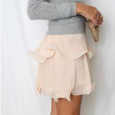 Love this cupcake dress worn as a skirt. So girly!  jseverydayfashion.com