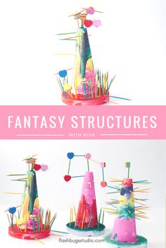 STEAM Fantasy Structures for Kids (Inspired by Iggy Peck Architect) Check out all the 28 Days of STEAM Projects for Kids for fun science, technology, engineering, art, and math activities!