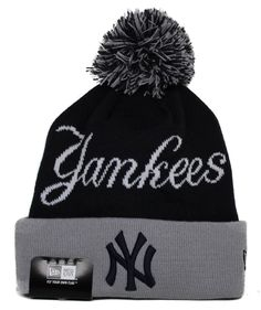 859653305a1 1 Adult  MLB New Era New York  Yankees Winter Fresh Cuffed Pom-top Beanie  Hat from  19.5