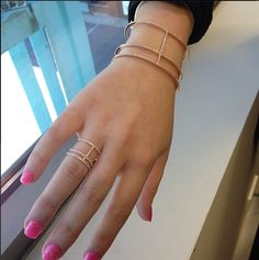 All new stunning Range of Jewellery in Carati Jewellers, called APM MONACO !! It's a french design. Featuring a stunning Rose Gold ring and bangle!