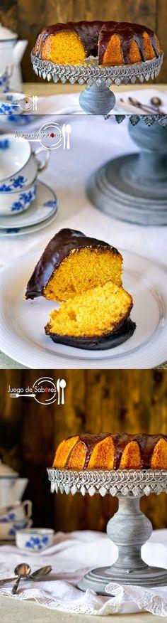 bizcocho de zanahoria y chocolate / http://www.juegodesabores.es/