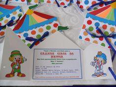 patati patata Clown Party, Circus Theme Party, Party Themes, Girl Birthday, Birthday Parties, Circus Clown, Ideas Para Fiestas, First They Came, Clowns