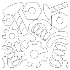 digitized computerized quilting patterns for computerized long arm quilting machines Quilting Stencils, Quilting Templates, Longarm Quilting, Free Motion Quilting, Quilting Projects, Quilting Designs, Quilt Patterns, Quilting Ideas, Quilt Stitching