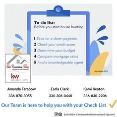 Thinking of buying a home? Here's a quick list of the basic steps you should take before starting the hunt. We are here to help with #5 and many others on your to do list. #thehelpfulagent #todo #houseexpert #home #listreports #househunting #realestate #realestateagent Check Your Credit Score, Down Payment, Mortgage Rates, Home Buying, Budgeting, Knowledge, Stuff To Buy, Consciousness