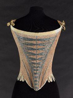 historicalcorsets:  Stays, between 1725 and 1775.  Musée Galliera, musée de la Mode de la Ville de Paris GAL1920.1.1202 © Eric Emo / Galliera / Roger-Viollet