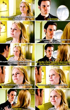 As much as I miss Captain Hook and as much as I miss Killian and Hook pursuing Emma, it is nice to see Killian and Emma's relationship evolving past that and having her help him for a change
