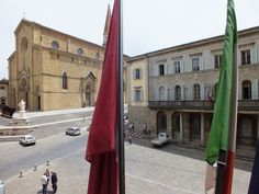 Arezzo, view from the Town Hall Palace: Cathedral and Palazzo della Provincia, religious and political heart of the city