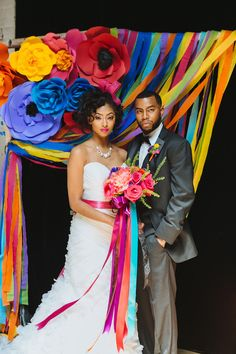 Day of the Dead Wedding Inspiration - the colours in this wedding shoot are amazing!