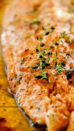 Broiled Salmon with Honey and Garlic ~ This easy Broiled Salmon recipe has just five ingredients, is on the table in less than 15 minutes and has incredible flavor!