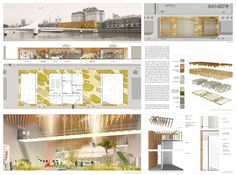 Honorable mention - Honorable mention - Buenos Aires Contemporary Art Museum competition [AC-CA] Revit Architecture, London Architecture, Architecture Board, Interior Architecture, Architecture Diagrams, Presentation Board Design, Architecture Presentation Board, Architectural Presentation, Presentation Styles