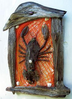 Lobster sculpture  Nautical Driftwood Art by bearpawrustics