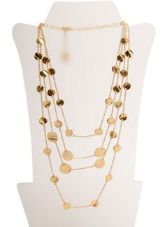 Multi Disc Long Necklace | Girl Intuitive