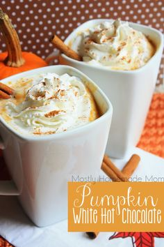 Pantry staple ingredients and REAL pumpkin simmer on the stove for this deliciously thick and decadent fall drink - set it on warm in a slow cooker for a party!     Ok, let's talk kids' Halloween cost