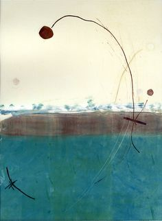 """Leap of Faith""  Monotype print, 2011"