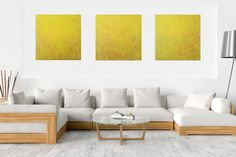 Falling stars – XXL triptych yellow – orange abstract Acrylic Painting Canvas, Abstract Paintings, Falling Stars, Dark Interiors, Shades Of Yellow, Triptych, Abstract Styles, Texture Painting, Neon Colors