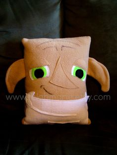 Dobby pillow inspired by Harry Potter plush by telahmarie on Etsy, $30.00